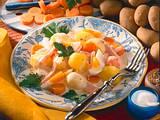 Kartoffel-Ragout mit Kasseler und Ei Rezept