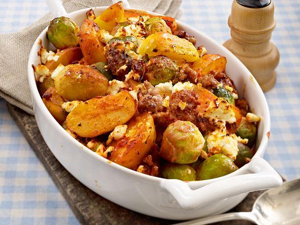 Kartoffel-Rosenkohl-Auflauf Rezept