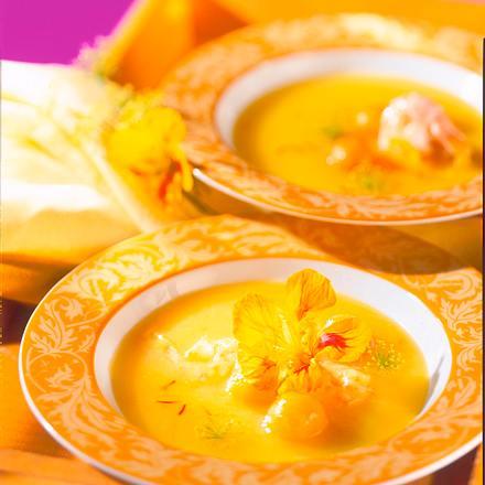 Kartoffel-Safran-Suppe Rezept