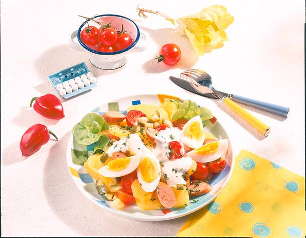 Kartoffel-Salat Kunterbunt Rezept