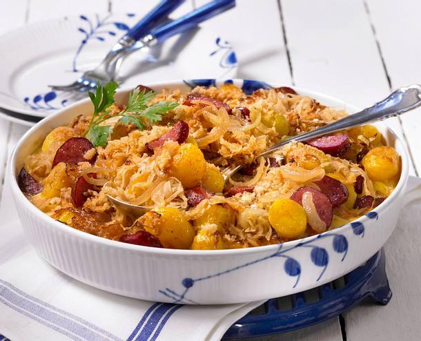 Kartoffel-Sauerkraut-Auflauf Rezept