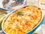 Kartoffel-Sauerkraut-Auflauf mit Kabeljaufilet Rezept