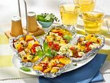 Kartoffel- Schafskäse Päckchen vom Grill Rezept