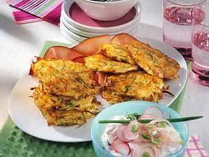Kartoffel-Schnittlauch-Plätzchen mit Radieschenquark Rezept