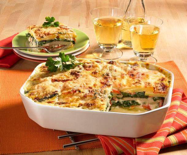 Kartoffel-Schnitzel-Lasagne (kalorienarm) Rezept