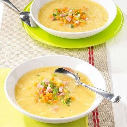 Kartoffel-Sellerie-Suppe mit Kasseler  Rezept