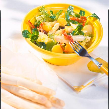 Kartoffel-Spargelsalat mit Serrano-Schinken Rezept