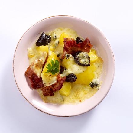Kartoffel-Speck-Pflaumen-Pfännchen Rezept