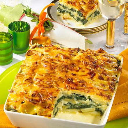 Kartoffel-Spinat-Lasagne Rezept