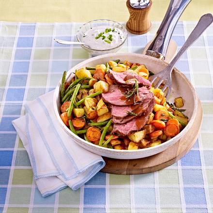 Kartoffel-Steak-Pfanne Rezept
