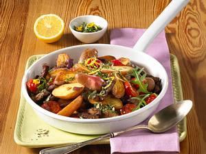 Kartoffel-Steakpfanne mit Gremolata Rezept