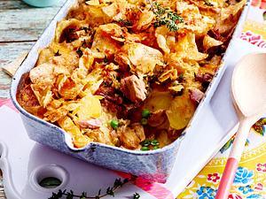 Kartoffel-Thunfisch-Auflauf mit Chipskruste Rezept