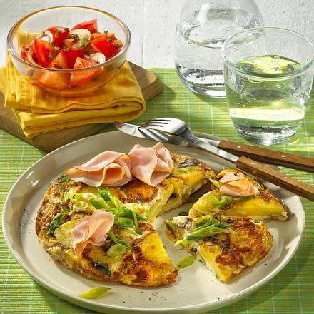 Kartoffel-Tortilla mit Lauchzwiebeln Rezept