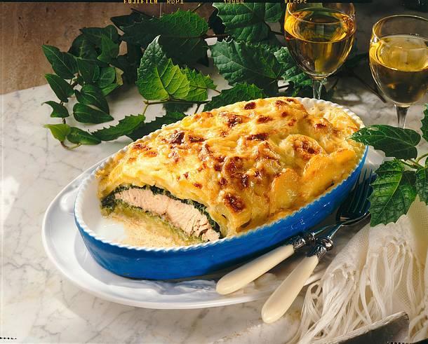 Kartoffel-Wirsing-Lachs-Lasagne Rezept