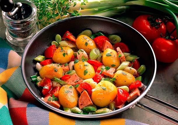 Kartoffel-Wurst-Pfanne Rezept