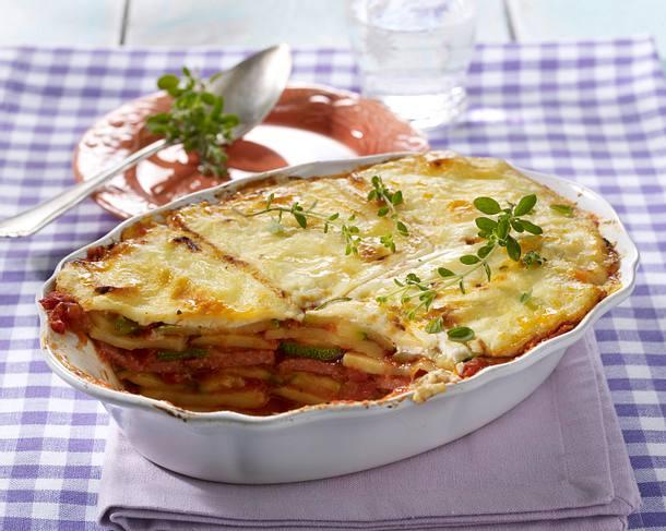 kartoffel zucchini lasagne rezept. Black Bedroom Furniture Sets. Home Design Ideas