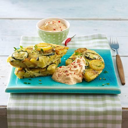 Kartoffel-Zucchini-Tortilla Rezept