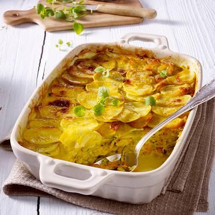 Kartoffelauflauf mit Möhre, Sellerie und Zucchini Rezept