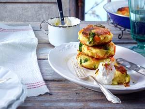 Kartoffelbratlinge zu Sprossen-Quark Rezept