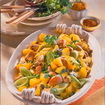 Kartoffelcurry mit Hähnchenfilet Rezept