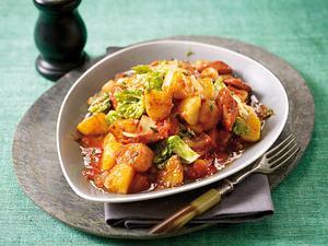 Kartoffelgulasch mit Wienern Rezept