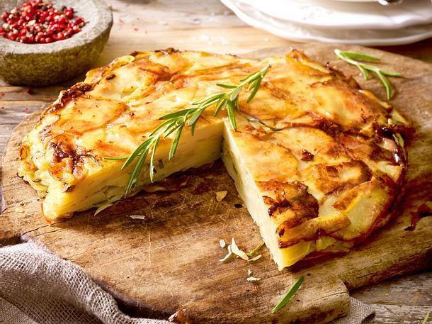 Kartoffel-Kuchen mit Bergkäse Rezept