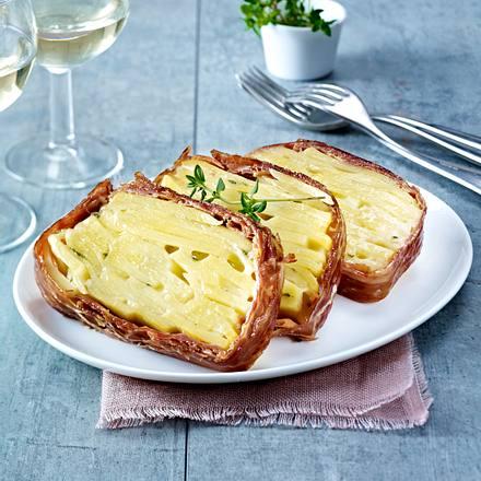Kartoffelkuchen mit Schinken und Käse Rezept