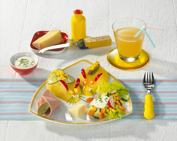 Kartoffelmäuse mit Salat Rezept