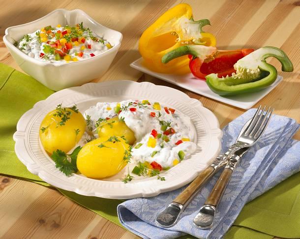 Kartoffeln mit Paprikaquark Rezept