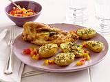 Kartoffeln mit Petersilien-Sesam-Kruste zu Zitronen-Salbei-Huhn Rezept