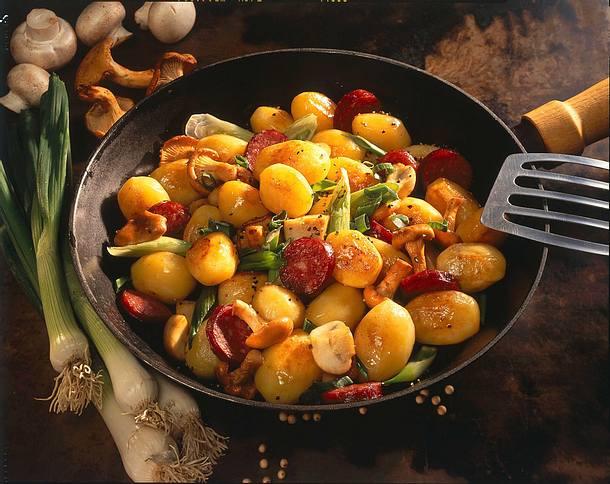 Kartoffelpfanne mit Cabanossi Rezept