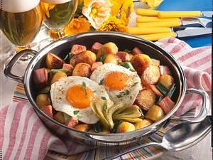 Kartoffelpfanne mit Kasseler Rezept