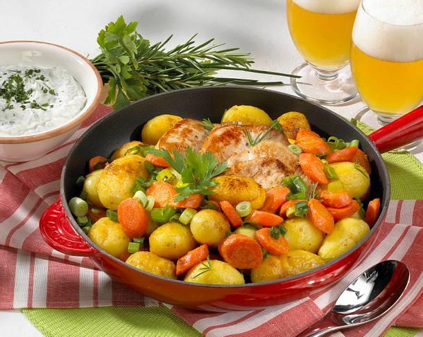 Kartoffelpfanne mit Minutensteaks Rezept