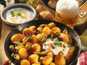Kartoffelpfanne mit Schafskäsecreme Rezept
