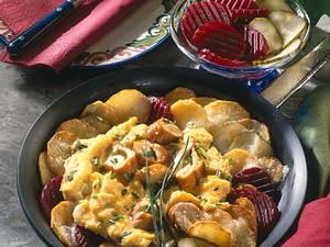 Kartoffelpfanne mit Schillerlocken-Rührei Rezept