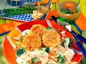Kartoffelplätzchen in Mandelkruste Rezept
