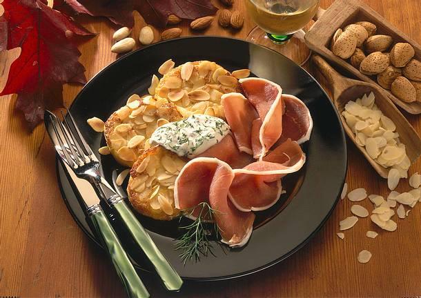 Kartoffelplätzchen mit Lachsschinken Rezept