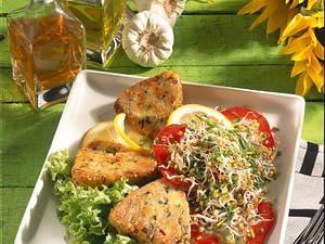 Kartoffelplätzchen mit Salat Rezept