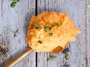 Kartoffelpüree mit Ajvar und Thymian Rezept