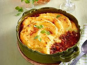 Kartoffelpüree-Bolognese-Auflauf Rezept