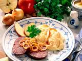 Kartoffelpüree mit Blutwurst (Himmel und Erde) Rezept