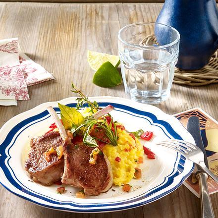 Kartoffelpüree provencial zu marinierten Lammkoteletts Rezept