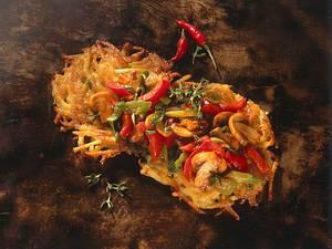 Kartoffelpuffer mit Chili-Gemüse Rezept