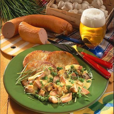 Kartoffelpuffer mit Curryragout Rezept