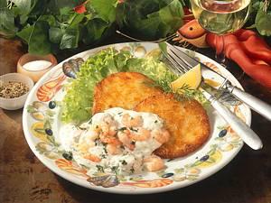 Kartoffelpuffer mit Knoblauch Shrimps Rezept
