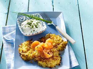 Kartoffelpuffer mit Lachs Rezept