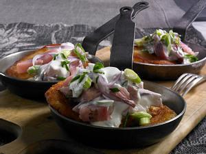 Kartoffelpuffer mit Matjes Rezept