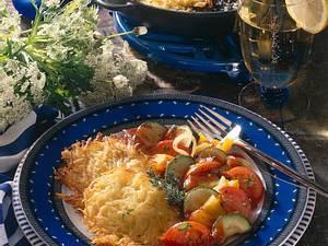 Kartoffelrösti mit Gemüse Rezept