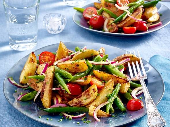 Kartoffelsalat aus Senf-Honig-Kartoffeln Rezept