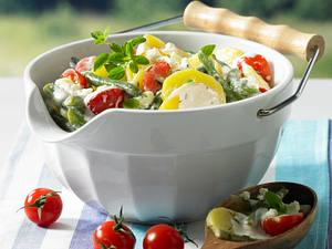 Kartoffelsalat mit Bohnen und Schafskäsecreme Rezept